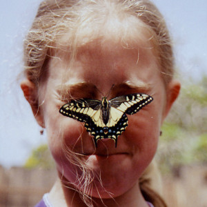 Dani-and-butterfly-on-face