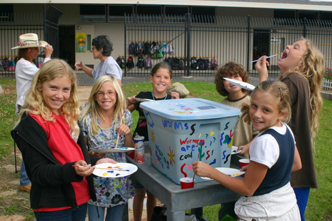 Each year students at Concordia Elementary School in San Clemente, CA build a new class bin